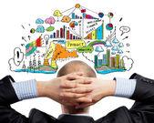Denken über den plan — Stockfoto