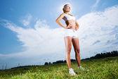 Спортивная девочка — Стоковое фото