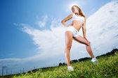 Ragazza sportiva — Foto Stock