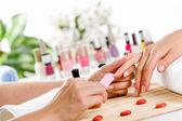 Woman at beauty salon — Stock Photo