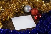 χριστουγεννιάτικη κάρτα — Φωτογραφία Αρχείου