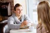 Couple on date — Stock Photo