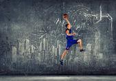 バスケット ボール選手 — ストック写真