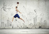 Basketball-spieler — Stockfoto