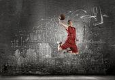 Jogador de basquete — Fotografia Stock