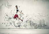 Basketball player — Stockfoto