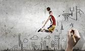Basketbalspeler — Stockfoto