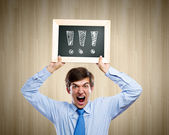 Expressing astonishment — Stock Photo