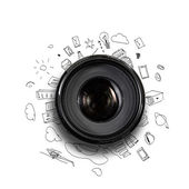 Conceito de fotografia — Foto Stock