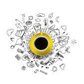 кофе тайм — Стоковое фото