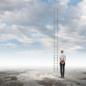 Ladder on top — Stock Photo
