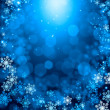 Snowflakes on blue — Stock Photo #50195623