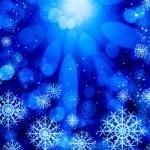 Snowflakes on blue — Stock Photo #50195637