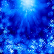 Snowflakes on blue — Stock Photo #50195667