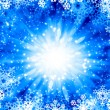 Snowflakes on blue — Stock Photo #50195711
