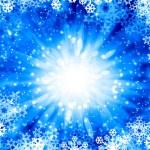 Snowflakes on blue — Stock Photo