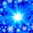 Snowflakes on blue — Stock Photo #50195713