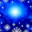 Snowflakes on blue — Stock Photo #50195723