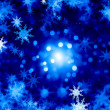 Snowflakes on blue — Stock Photo #50195739