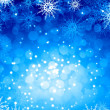 Snowflakes on blue — Stock Photo #50195753
