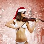Girl violinist — Stock Photo #50196465