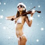 Girl violinist — Stock Photo #50196511