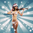 Girl violinist — Stock Photo #50196515