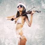 Girl violinist — Stock Photo #50196523