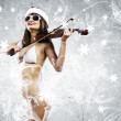 Girl violinist — Stock Photo #50196529