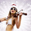 Girl violinist — Stock Photo #50196557