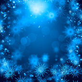 Snowflakes on blue — Foto Stock
