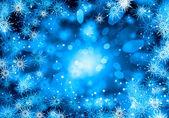 Flocos de neve azul — Foto Stock
