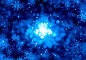 Snowflakes on blue — Photo