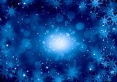 Flocons de neige sur bleu — Photo