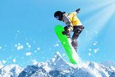 Dağlarda snowboard — Stok fotoğraf