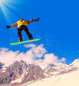 Snowboard in montagna — Foto Stock