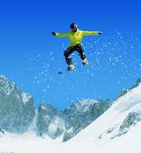Snowboard i bergen — Stockfoto