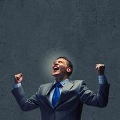 ブレーンストーミングの実業家 — ストック写真