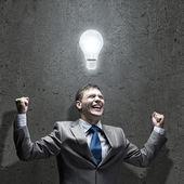 бизнесмен мозгового штурма — Стоковое фото