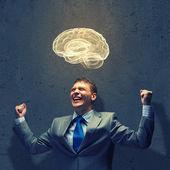 Businessman brainstorming — Stock Photo