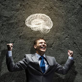 Businessman brainstorming — Foto de Stock