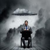 Joblessness of businessman — Stock Photo