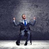 """Biznesmen """"burzy mózgów — Zdjęcie stockowe"""