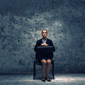 Upset businesswoman — Stock Photo