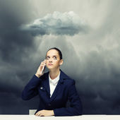 Upset businesswoman — Foto de Stock