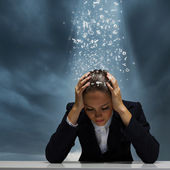 Depressed businesswoman — Stock Photo