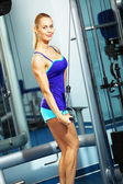 Triceps-training — Stockfoto