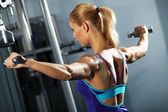 Shoulder workout — Stock Photo