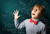 Smart schoolboy — Stock Photo