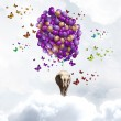 Flying elephant — Stock Photo #50352815